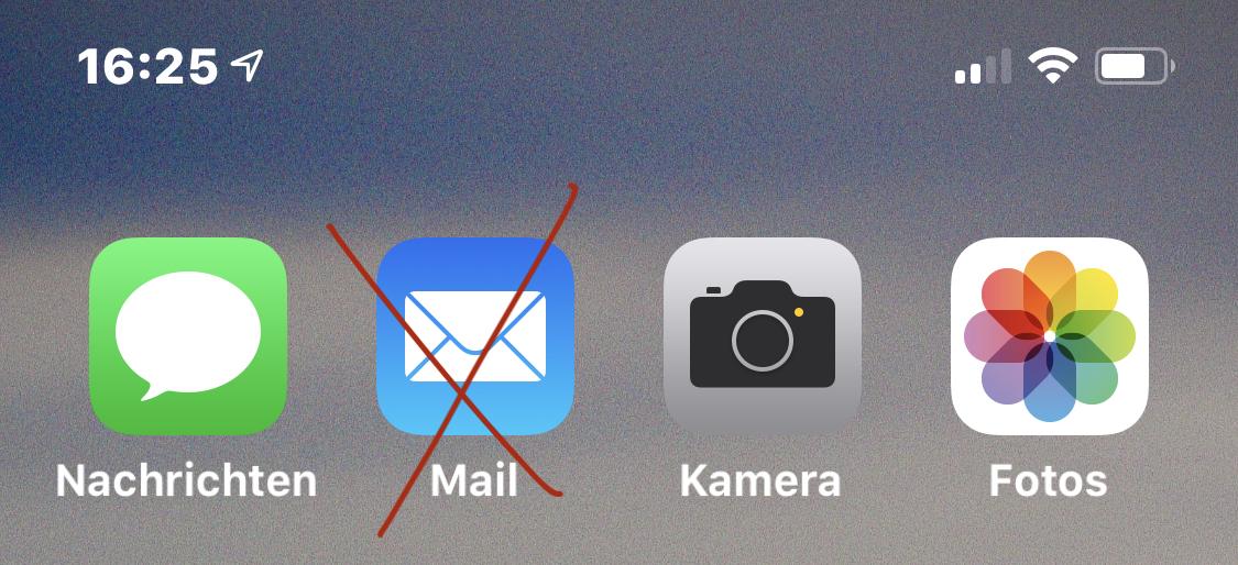 Apple Mail deaktivieren